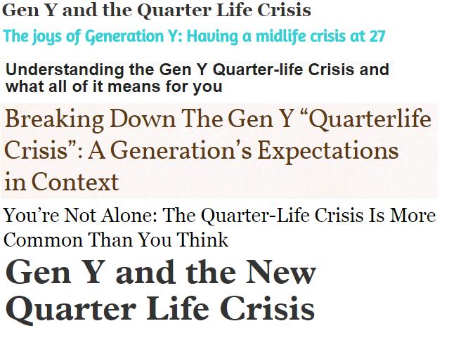 gen y crisis